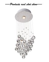 Wholesale Modern and Simple Crystal Chandelier LED D25 H60 Personality glass Living Room Bedroom Ceiling Lamp Pendant Lamp