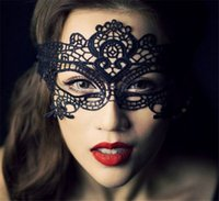 Wholesale New Masquerade Halloween Exquisite Lace Half Face Mask For Lady Black White Option Fashion Sexy