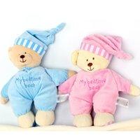 bedtime kids - 2015 New CM Cartoon My Bedtime Bear Plush Doll Baby Toy Soft Sleeping Bear Sleeping Stuffed Plush Doll Kids Sleeping Toys