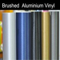 Whole Body aluminium rolling - 1 x30m x98ft Brushed steel Aluminium Vinyl Vehicle Wrap Film Roll Sticker Decal Car Motorcycle Vinyl Wrap colors