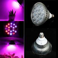 Wholesale Full spectrum E27 LED Grow Light Bulb W W W W W W W V V Plant Growing Lamp for Hydroponic Garden Greenhouse