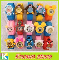 Wholesale New arrive Colorful cartoon slap watch children wrist watches cheap price For DHL