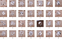 Wholesale Hot selling plated Sterling Silver Charms Rings Vintage Rings Women girls ring Styles choose