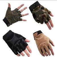 Wholesale Men s and women s army tactical outdoor fan navy seal cutting skid prevention thermal movement cycling fitness half gloves