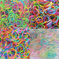 Cheap Mix 4 style DIY twis refill LOOM bands (Fluorescent +GLITTER +camo+twis ) DIY loom bands hot sell 2014 Free shipping