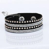 Wholesale crystal bracelets slake bracelets bling bling rhinestone bracelet punk style bolt rivet bracelets multi layer bracelets tenise bracelets