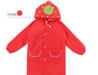 Wholesale 200pcs hot selling Kids Funny Kids Raincoat Rainwear Rainsuit Child Cartoon Auto Duck Bunny Frog