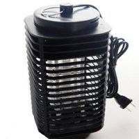 Wholesale 2015 new hot Lamp Fly Bug Insect V Electric Mosquito Zapper Killer With Trap EU plug