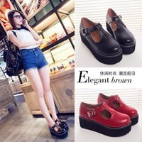 creepers - New brand designer shoes woman Spring Autumn Women Flat Platform shoes Vintage Creepers sapatos femininos moccasins