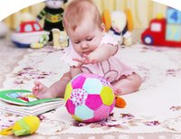 big baby rattle - Baby Big Spherical Rattles itty bitty Plush Toy Large Cloth Ball Baby Educational Toys Cotton Rattle Ball