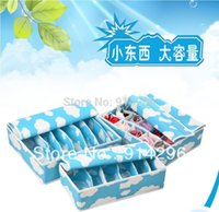 Wholesale pieces a set storage box foldable box Bamboo Charcoal fibre for bra underwear socks