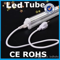 Wholesale 2015 Newest T8 Led Tubes Lights With US Plug m Cable W FT Integrated T8 Led Fluorescent Tubes Lamp Warm Natrual Cold White AC V