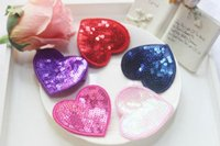 baby wearing safety - Sequin Heart Hair Clips for Girls inches safety clips cloth wrap baby toddlers girls hair accessories Valentine day hair wear