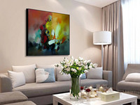 bedroom decorating paint - Hand Painted Thick Oil Palette Painting High Quality Living Room Study Bedroom Modern Decorated Canvas Painting