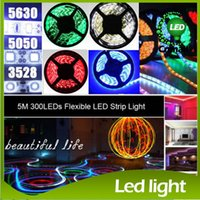 Wholesale LED Strips m set SMD led LED Strip Light Waterproof Flexiable LED Strips LED Cool Pure Warm White Red Blue