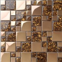 amber glass tile - 1941 amber crystal glass mosaic stainless steel mosaic tile backdrop mosaic pattern plastic folder