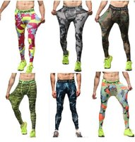 Wholesale fashion men skins camouflage compression outdoor pants tights Running camo quick dry Base Layer fitness jogging Trousers