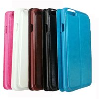 Cheap New PU Leather + Hard PC ID Credit Card Slot Wallet Filp Cover Stand Case For iphone 5 5s 6s Plus