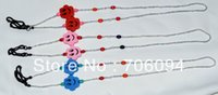 beads string string glass beads - Kid s glasses cord Glasses Chain for kids cute wooden beads glasses string