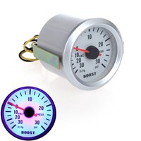 Wholesale Turbo Boost Vacuum Pressure Gauge Meter for Auto Car quot mm in Hg PSI Blue LED Light order lt no track