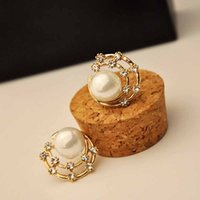 bath pearls - 30 Pair Fashion Women Stud Earring High grade Alloy Bath Star Inlay Rhinestone Jewelry Qualities Elegant Pearl Earring