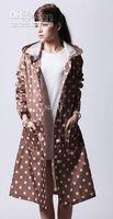 Wholesale Lady Split raincoat fashion dry super waterproof women s long design with a hood poncho
