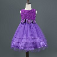 baby dress designs - 2016 wedding dresses Kids Dresses For Girls New Design Autumn Wear Sleeveless Flower Dress Princess dresses for girls baby dresses