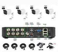 Wholesale Via DHL EMS CH Channel H HDMI Outdoor mm CCTV DVR TVL Security Camera System Iphone APP Remote Control