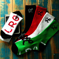 lrg - LRG geans LOGO Crew Socks for Skateboarding Outdoor Sports Clothing Equipment