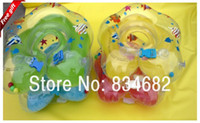 Disposable 42cm 10cm FG1511 J.G Chen! 1pcs Green Blue Yellow Pink Cartoon Adjustable New Baby Aid Tube Infant Baby Swimming Neck Ring Float Circle Safety