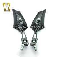 Wholesale Carbon Fiber Motorcycle Rear View Mirror Fit for Honda Suzuki with mm mm Screw motorbike rearview mirrors for bicycle