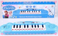 Wholesale New Musical instruments toy for kids Frozen girl Cartoon electronic organ toy keyboard electronic baby piano with music songs DHL