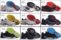Wholesale 18 Colours Maxs High Quality Air Plus TN Black Red Blue Men Running Sport Sneakers Trainers Shoes