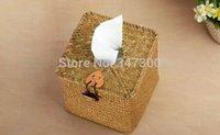 bathroom handmade paper - home straw handmade knitted bathroom square box tissue pumping box