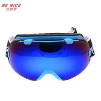 Wholesale Outdoor Brand Winter Ski motocross goggles double lens anti fog big spherical professional SNOW Sports glasses snowboard anti parras eyewear