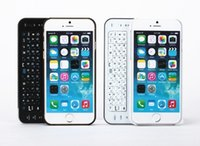 Wholesale iPhone inch Wireless Bluetooth Keyboard Thin Hard Plastic Slide Out Cover Case Cell Phone Keyboards With Backlight