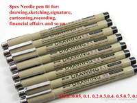 Wholesale 8 pack Jinwannian Needle Drawing Pen Hook Line Pen For Sketch A5