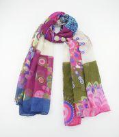 logo design - 2014 New Wraps brand Desigual without logo scarf comfortable design Pashmina long silk scarf Large Scarf Shawl CM