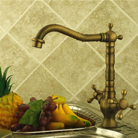 bamboo basin faucet - Antique bronze finishing kitchen faucets kitchen tap basin faucets single hand hot and cold faucet ZLY F