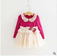 Fall Girls Dresses Cheap GongXi baby girls fall
