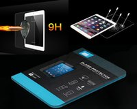 Wholesale Tempered Glass Screen Protector for ipad air mini Retina Galaxy tab A S with retail package