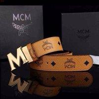 metal letters - NEW MCM Belt Cool Belts for Men and Women belts Fashion Casual Belts M Shape Metal strap Ceinture Buckle
