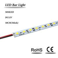 Wholesale 0 m LED Bar Lights SMD5050 LED Bar light V Hard Rigid Strip Bar Light leds with Aluminium Alloy Shell Housing CE RoHS