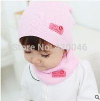 baby winter hats and mittens - Fall and Winter Baby Hat Fashion Unisex Hat and Scarf Sets Korean Style Solid Knit Mittens