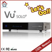 Wholesale vu solo mhz Twin DVB S2 Tuners Satellite receiver frees shipping original vu solo2 DVB S2 receiver