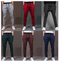 Wholesale Harem Pants New Style Fashion Casual Skinny Sweatpants Sport Pants Crotch Jogging Pants Men Jogger Sarouel LM