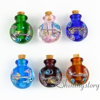 pet urns - miniature glass bottles urn charms jewelry for cremation ashes locket dog ashes jewelry cremation urns for pets