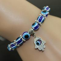 Mode Turquie Mal Eye Bracelet Résines Perles pendentif Shamballa Kabbale main bracelet en perles brin bracelet élastique cadeaux bijoux de charme