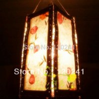 bamboo lamp shade - Wholesales Pure Natural Manual Fabricated Lamp shade for Household Bars and Other Decoration Chinese Lantern Style