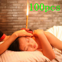 Wholesale 100 indian magical Natural physical therapy Ear Care relieve stress medical aromatherapy ear candle